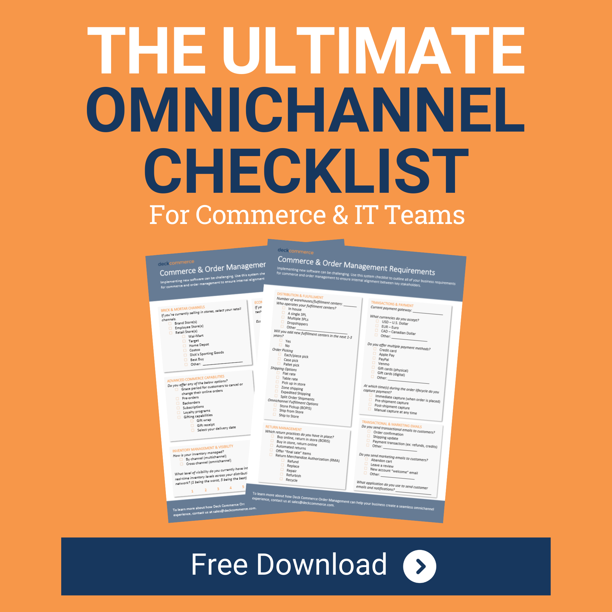 omnichannel checklist for commerce and it teams
