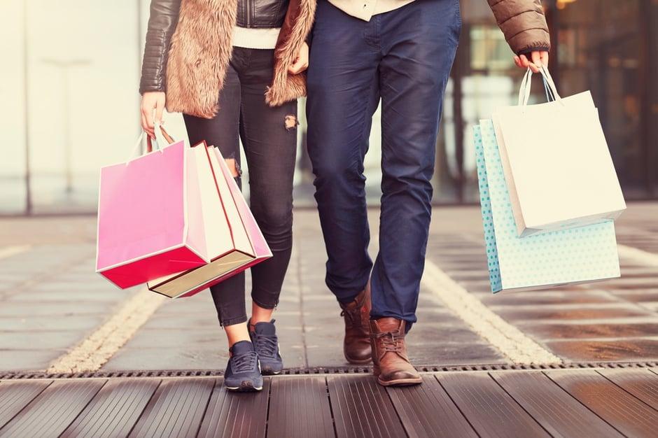 Two Shoppers Walking - Medium.jpg