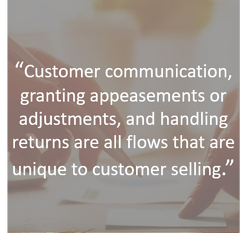 Customer communication granting appeasements and handling returns cant be done easily with ERP