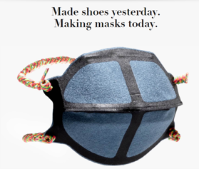 New Balance transitioned from selling shoes to masks