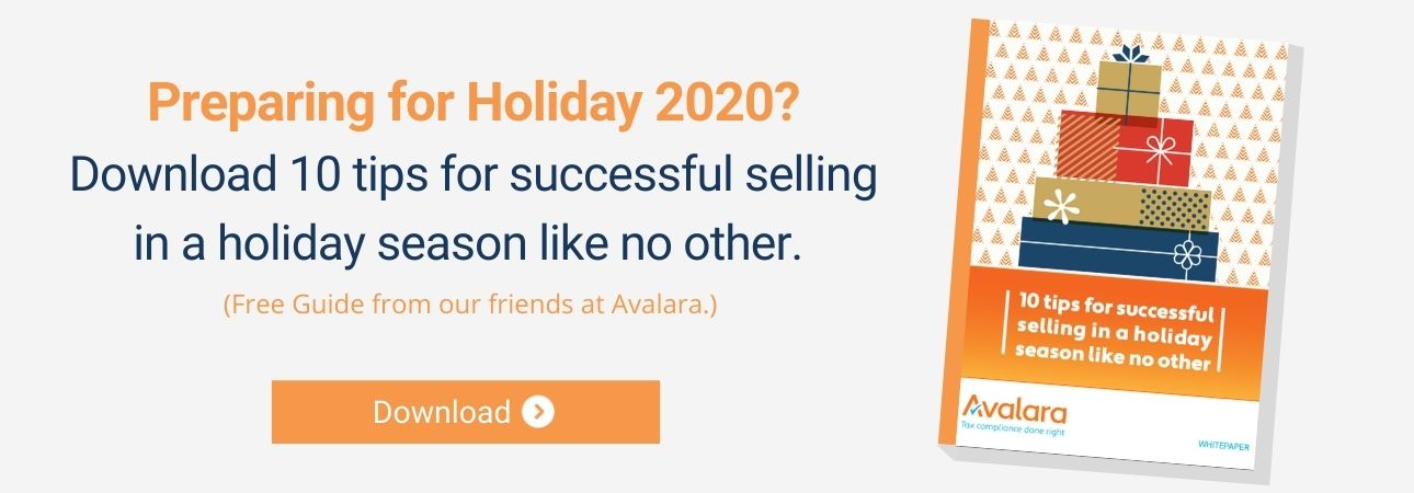 Holiday Selling Guide Deck Commerce Avalara