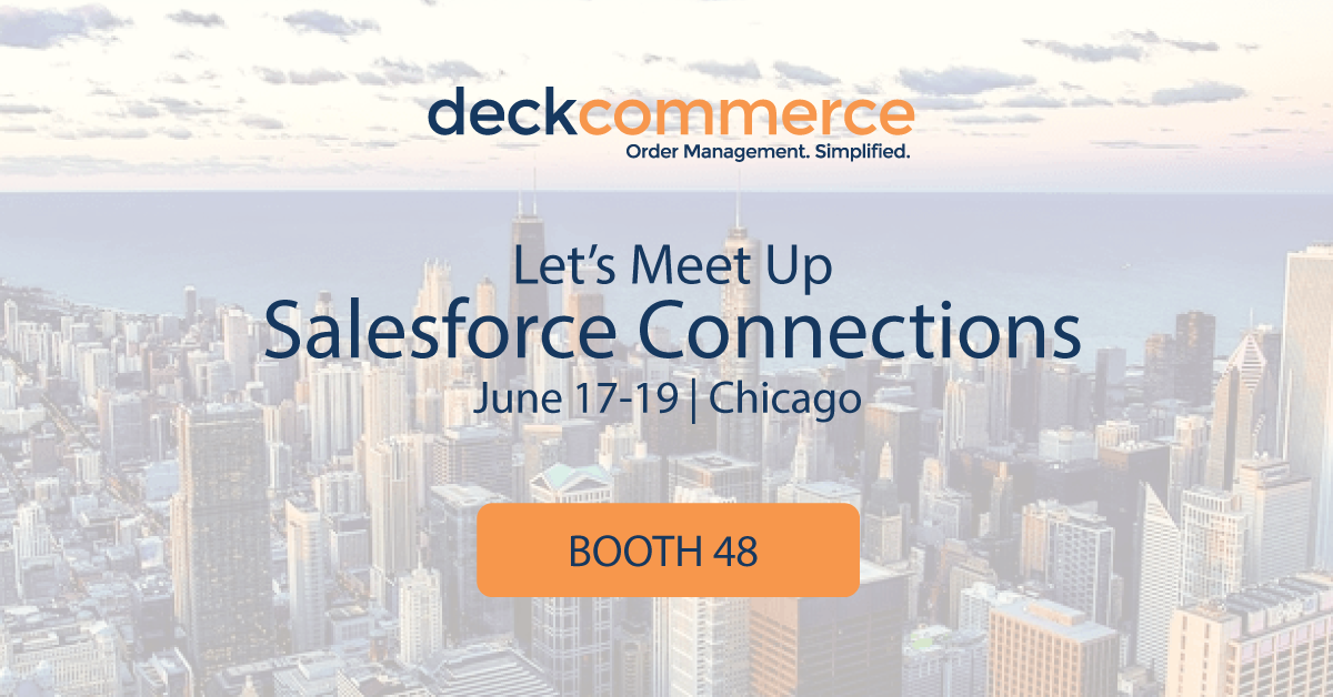 Deck Commerce exhibits at Salesforce Connections