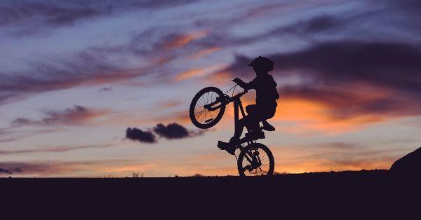 wheely bike trick